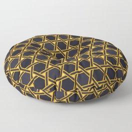 Gold Black Geometric Pattern Floor Pillow