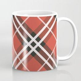 Plaid Pattern In Red Tones Coffee Mug