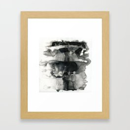 Black and White Abstract Washes Framed Art Print