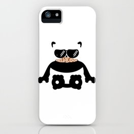 Mustache Hella Cool Panda iPhone Case