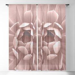 Pink Cactus Sheer Curtain