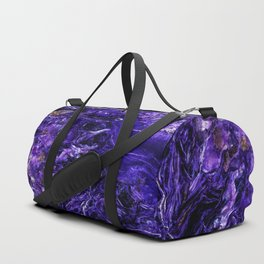 Patterns of charoit mineral Duffle Bag