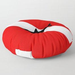 Diving Flag: Shark Floor Pillow