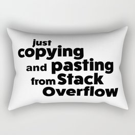 Stack Overflow Rectangular Pillow