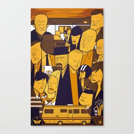 Breaking Bad (yellow version) Canvas Print