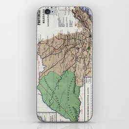 Map of the province of São Paulo - 1886 iPhone Skin