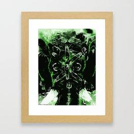 green ganesh Framed Art Print
