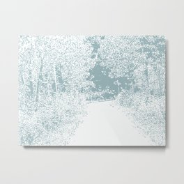 Walk in the Forest Metal Print