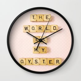 The World Is My Oyster Wall Clock