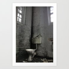 Toilet Trouble Art Print