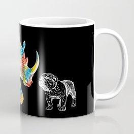 New Friend Rhino Funny Bulldog-Hello Stranger Coffee Mug