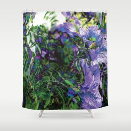 Abstracted Purple Petunias Shower Curtain
