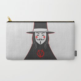 V for vendetta November 5 Minimal Poster Carry-All Pouch