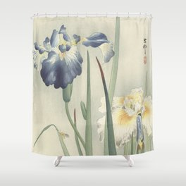 Irises - Ohara Koson (1900 - 1936) Shower Curtain