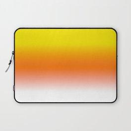 Yellow Orange and White Halloween Candy Corn Laptop Sleeve