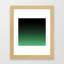 Hulk green Ombre Framed Art Print