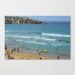 Surfs Up, Bondi Canvas Print