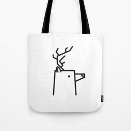 Minimalist Deer Tote Bag