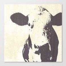 Rustic Cow Canvas Print
