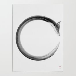 CalmFox Enso Poster