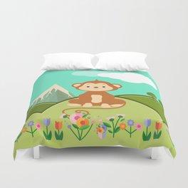 Monkey , nursery decor Duvet Cover
