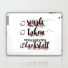 Single / Taken / Bookshelf Laptop & iPad Skin