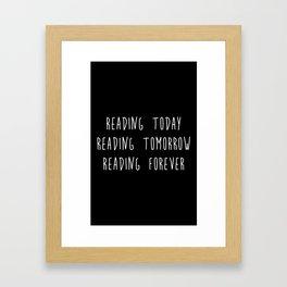 Reading (inverted) Framed Art Print