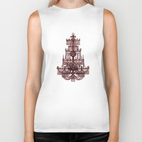 chandelier Biker Tanks featuring Vintage Chandelier by Bluepress