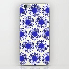 vintage flowers blue  iPhone Skin