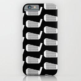 Golf Club Head Vintage Pattern (Black/White) iPhone Case