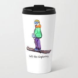Fan's exploration- Skiing in Lake Tahoe California Travel Mug