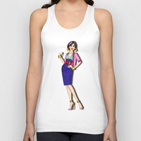 mulan Tank Tops featuring Diva, Mulan by Anthony Michael