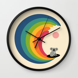 Dream Surfer Wall Clock
