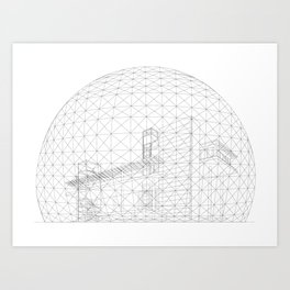 Montreal Biosphere Art Print