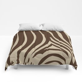 Zebra Stripes | Chocolate Brown and Beige Comforters