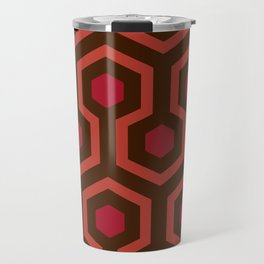Horror Movie Rug Pattern Travel Mug