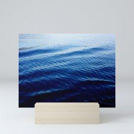 Gradient Blue Ocean Mini Art Print
