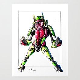 ROBOT CHILD Art Print