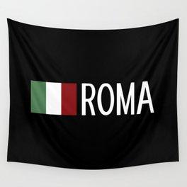 Italy: Italian Flag & Roma Wall Tapestry