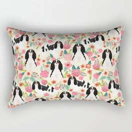Cavalier King Charles Spaniel floral flowers dog breed pattern dogs Rectangular Pillow