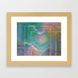 SUMMER ABSTRACT - Woven Framed Art Print
