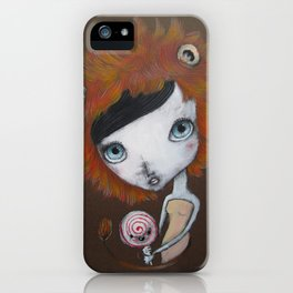 Lion girl iPhone Case