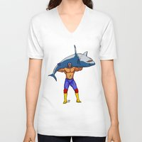fishing V-neck T-shirts featuring Fishing by PCRK