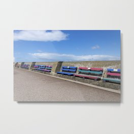 New Brighton benches 2 Metal Print