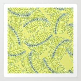 Tropical beach palm tree leaf Art Print