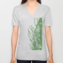 Green creepers climbing the wall Unisex V-Neck