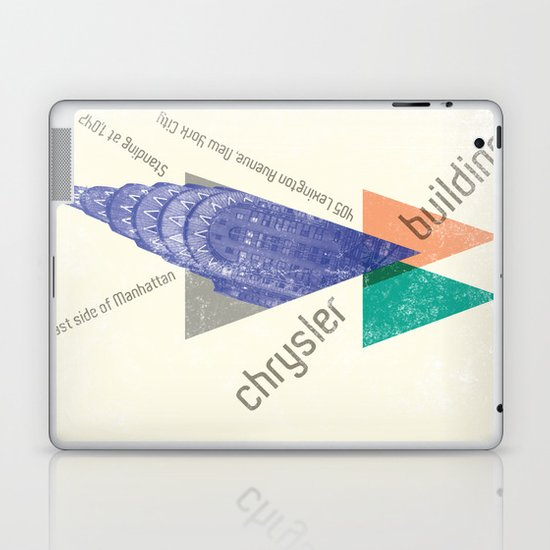 chysler building Laptop & iPad Skin
