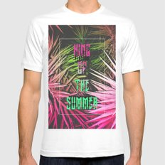 King of the Summer White Mens Fitted Tee MEDIUM