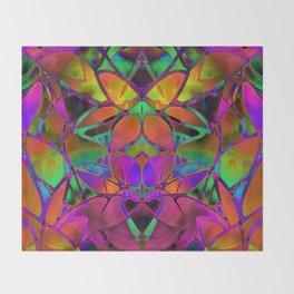 Floral Fractal Art G306 Throw Blanket