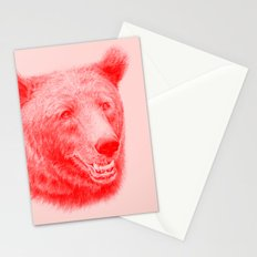 Brown bear is red and pink Stationery Cards